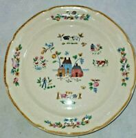"2 International Heartland Pattern 7774 10-3/4"" Stoneware Dinner Plates Farm"