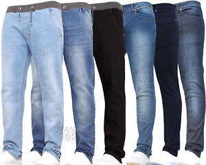 Boys Kids Stretch Jeans Ribbed Denim Skinny School Pants Trousers Age 7-15 Years