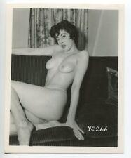 Flirty Girl Nice Long Legs Mega Ripe Breasts 1950 Original  Pinup Photo  B4979