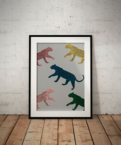 Leopard wall art print, poster, prints, watercolour, wallart, gift, gifts