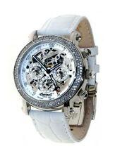 Runde Polierte Mechanisch-(Automatisch) Armbanduhren mit 12-Stunden-Zifferblatt