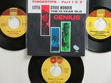 LOT OF 4 ' STEVIE WONDER ' HIT 45's +1P(Copy)[Fingertips Part 1 & 2]  THE 60's!