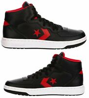 New CONVERSE One Star Athletic Sneakers Hi Top Mens black red leather all sz
