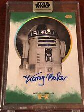 Star Wars Stellar KENNY BAKER - R2-D2 Green 10/20 Auto Autograph Topps R2D2