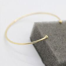 Gold Open Cuff Bangle Bracelet Copper Wire Bangle Minimal Bracelet Jewelry