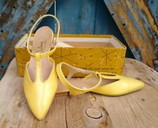 Vintage Yellow Flats Delmar Of California Shoe Co Ladies 6 Dress Shoes