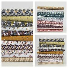 Autumn Hues Rustic Colours 100% Cotton Fabric Modern Geometric Floral Prints