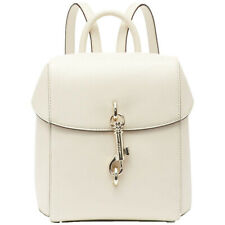 DKNY Small White Leather Backpack Ivory B20