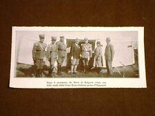 Terremoto di Filippopoli nel 1928 Re Boris di Bulgaria presso tenda Croce Rossa