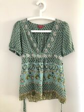 Monsoon | Paisley Silk Top | Size 8 | NWOT