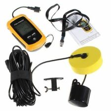 100M Portable 45-degree Sonar Sensor Fish Finder Fishfinder Transducer Alarm+LCD