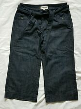Ladies size 14 Wide Leg 3/4 Jeans with Matching Belt -Sussan