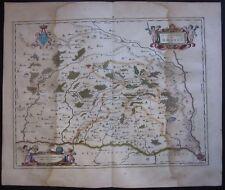 1640 DOMBES original map Blaeu Châtillon Thoissey Trivier Villars Bourg Bresse