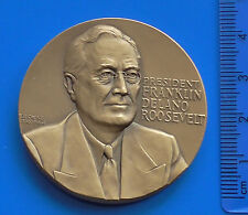 Bronze Medal President Roosevelt Attack on Pearl Harbor Hawaii USA made 1966 51g
