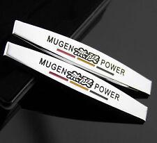 2pcs 3D Metall Auto Schriftzug Aufkleber Emblem für Schutzblech MUGEN POWER NEU