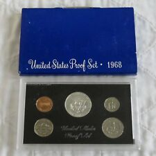 USA 1968 s 5 COIN PROOF YEAR SET WITH SILVER - sealed/outer