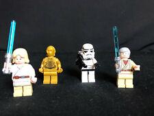 Lego Star Wars 4 x Figuren Luke Skywalker Ben Kenobi C-3PO Sandtrooper aus 8092
