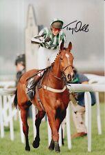 Tony Dobbin Hand Signed Lord Gyllene 12X8 Photo Grand National Horse Racing.