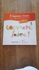 """livre tupperware"""" 5 legumes & fruits au quotidien"""""""