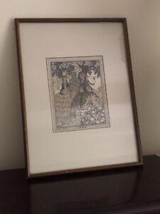 ~* Antique Vintage Original Art-Gout-Beaute Pochoir Hand Coloured Fashion Plate