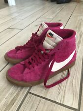 Womens Nike Blazers High Tops Suede Size Uk 4 pink! Retro Vintage