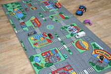 Grandi bambini Highway strade 94 cm x 200cm Kids AUTO TRACK RACING PLAY MAT