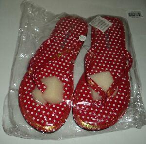 CAMMIE à Pois Sandales Avec Sequin Bordure Taille 5 Neuf avec Étiquette