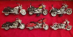 Maisto Harley Davidson Motorcycle No Packaging Lot of 6 Motorcycles