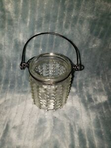 Small Hobnail Clear Lantern Candle Holder