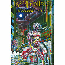 More details for iron maiden somewhere in time textile poster official premium fabric flag