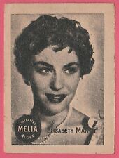 Cigarettes Melia Algeria Rare 1950s Film Star Tobacco Card - Elisabeth Manet