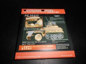 VOYAGER MODEL 35322, 1/35 WWII GERMAN SDKFZ.250/9 RESIN DETAIL SET / DRAGON KIT