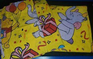 VINTAGE RARE Winnie The Pooh Heffalump Party Flat sheet 2 Pillowcases