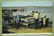 Vintage Postcard Unposted Color Fishing Community Nova Scotia Coastline Canada