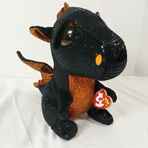 """TY Beanie Boo MERLIN Halloween Dragon 9"""" Plush Walgreens Exclusive With Tags"""