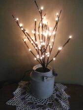 """LED  Black Glitter Twig 60 Clear Lights PBK 19-3/4"""" Tall Electric"""
