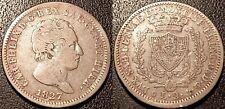 Italie - Sardaigne - Charles Félix - 2 lire argent 1827 P, Gênes ! KM#122