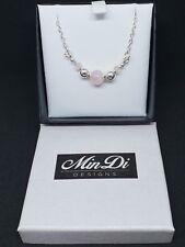 Handmade bracelet with Sterling Silver & Rose Quartz