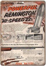 "Remington 22 rifle 10"" x 7"" reproduction metal sign"