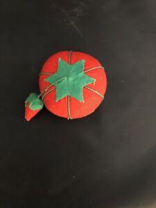 2003 Prym Tomato Pin Cushion - 2 inch diameter w/ Strawberry Emery