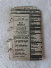North American T-2a Buckeye Pilot's Natops checklist