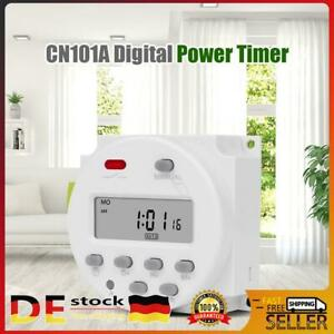 12V Digital Timer 7Tage Programmierbare Zeitschaltuhr Controller Relais Timer DE