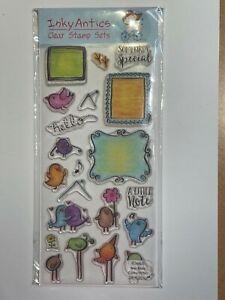 Inky Antics, Nicola Storr, Mail Birds Clear Stamp Set, NEW