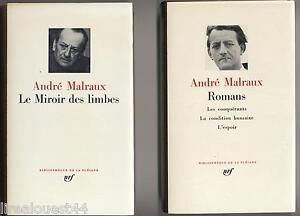 Le miroir des limbes Romans Pléiade NRF rhodoïd et jaquette TBE Malraux