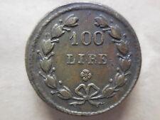 peso monetale da 100 lire oro al rovescio inciso il peso 32,258 grammi