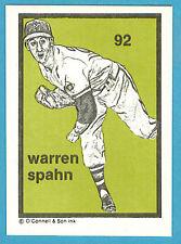 1984-1991 O'Connell & Son Ink Mini Print #92 Warren Spahn (Braves)