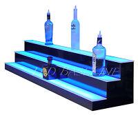 """60"""" LIGHTED BAR SHELF, 3 Steps, LED Liquor Bottle Glorifier, Back Bar Shelving"""