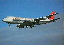 Ansichtskarte Postkarte Flugzeug Northwest Orient Boeing 747- 151