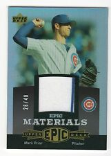MARK PRIOR {CUBS} #D /40 JERSEY 06 UD Ultimate Collection EPIC MATERIALS EM-MA