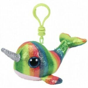 Ty Beanie Boos Clip Ons Nori The Narwhal Plush